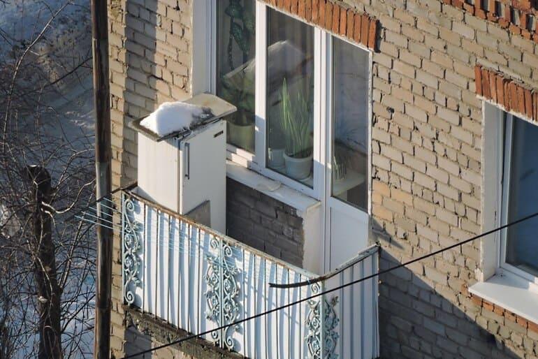 Можно ли морозильную камеру ставить на неотапливаемый балкон зимой