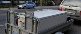 Можно ли перевозить холодильник лежа в машине