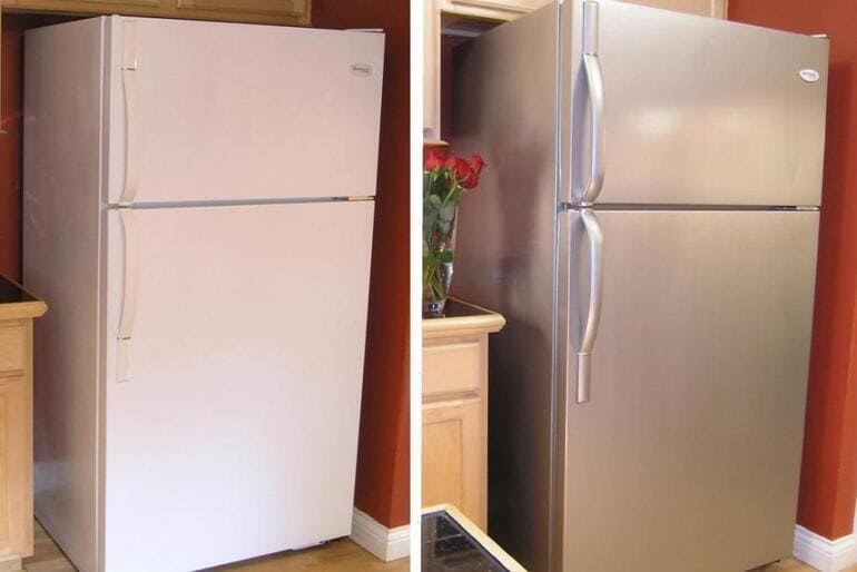 Как и чем покрасить холодильник в домашних условиях своими руками в другой цвет